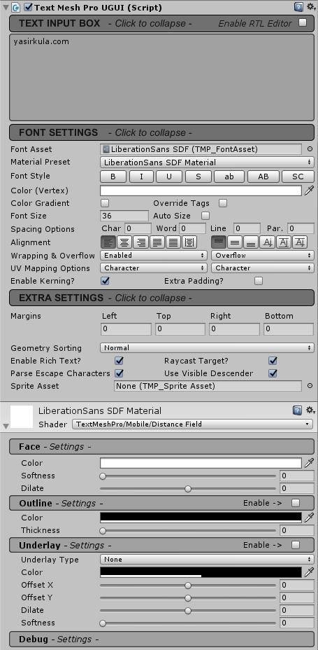 Unity TextMesh Pro Kullanımı | Oyun Tasarımı Destek Sitesi